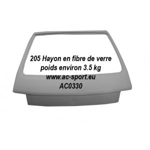 205 Hayon en fibre de verre et résine polyester