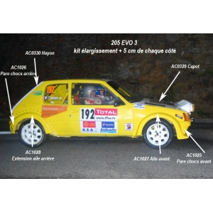 205 Evo3 Kit carrosserie 6 Pièces